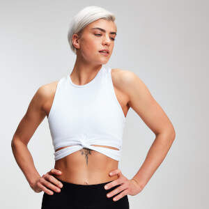 Crop top Power femme MP - Blanc