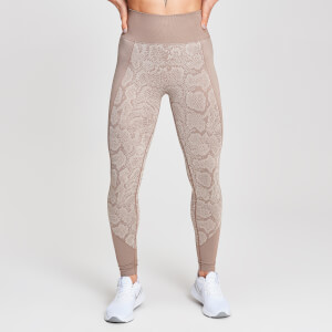 Leggings Seamless Animal Snake MP da donna - Sabbia