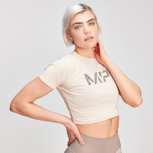 MP Animal Snake Seamless Women's Cropped T-Shirt - Desert