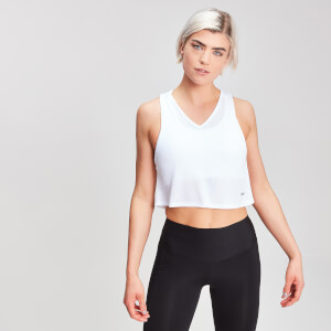 MP Women's Rest Day Cropped Vest - White