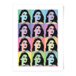 Multi Colour Pop Girl Print Art Print