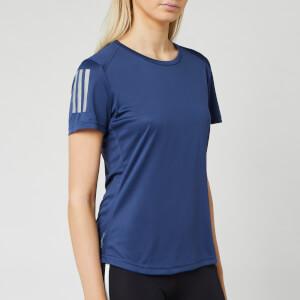 adidas Women's Own the Run Short Sleeve T-Shirt - Tech Indigo