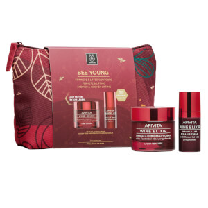APIVITA Wine Elixir Wrinkle and Firmness Lift Light Cream and Wine Elixir Winkle Lift Eye and Lip Cream Gift Set