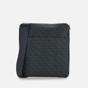 Armani Exchange Men's All Over Print Cross Body Bag - Navy