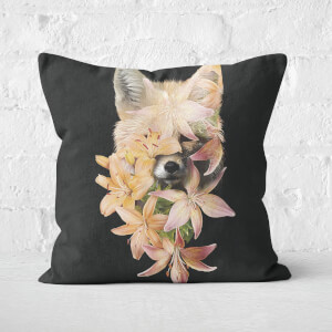 Foxy Flowers Cushion Square Cushion