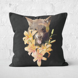 Wolfish Flowers Cushions Square Cushion