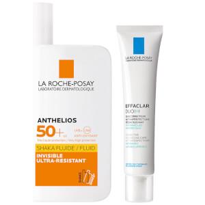 La Roche-Posay Blemish Prone AM Moisturising Skin Bundle