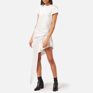 Alexander Wang Women's Exposed Leg Short Sleeve Dress - White
