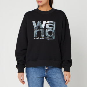 Alexander Wang Women's Crewneck Sweatshirt with Graphic Print - Black