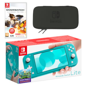 Nintendo Switch Lite (Turquoise) Overwatch Pack