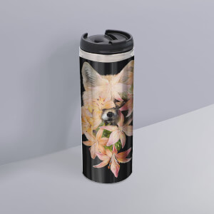 Foxy Flowers Thermo Insulated Travel Mug