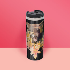 Wolfish Flowers Thermos Mug