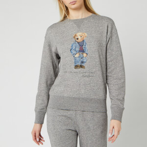 Polo Ralph Lauren Women's Denim Bear Sweatshirt - Dark Vintage Heather