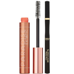 L'Oréal Paris Castor Oil-Enriched Paradise Volumising Mascara and Superliner Eyeliner Duo Exclusive