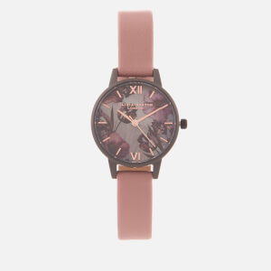 Olivia Burton Women's Twilight Floral Small Dial Watch - Pale Pink
