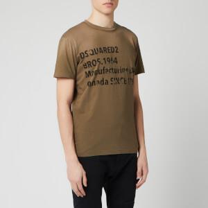 Dsquared2 Men's Industry Print T-Shirt - Hazelnut