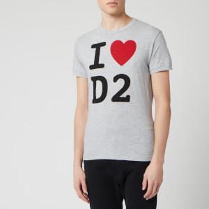Dsquared2 Men's Heart T-Shirt - Grey Melange