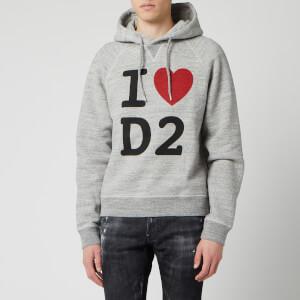 Dsquared2 Men's Heart Logo Hoody - Grey Melange