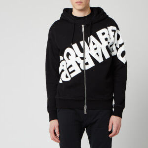 Dsquared2 Men's Angled Mirror Logo Hoody - Black