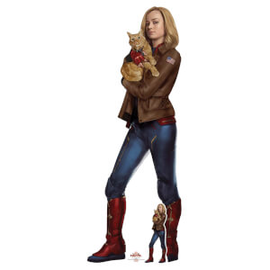 Captain Marvel Carol Danvers with Goose the Cat (Brie Larson) Life Size Cut-Out