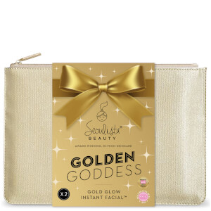 Seoulista Beauty Christmas Pouch Gold Glow Instant Facial 'Golden Goddess' Gift Pack