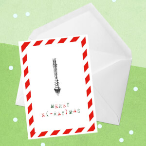 Merry X(-Ray)mas Spine Greetings Card