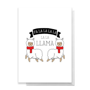 Fa La La La La La Llama Greetings Card