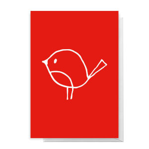 Christmas Robin Greetings Card