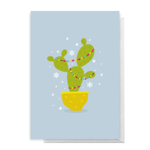 Christmas Cactus Greetings Card