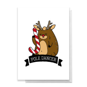 Pole Dancer Greetings Card