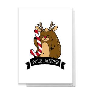 Pole Dancer Greetings Card