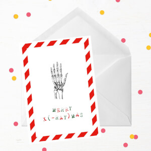 Merry X(-Ray)mas Hand Greetings Card