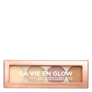 L'Oréal Paris Wake up and Glow La Vie en Glow Highlighting Palette - 01 Warm Glow 60g