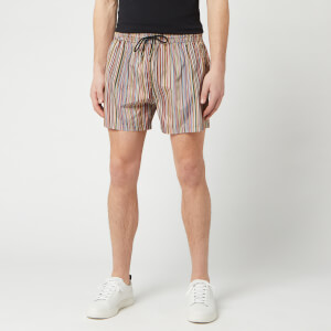 PS by Paul Smith Men's Signature Stripe Swim Shorts - Black