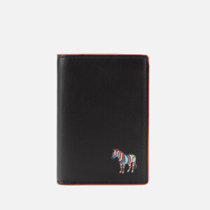 PS Paul Smith Men's Zebra CRedit Card Slip Wallet - Black