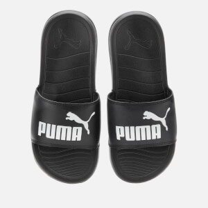 Puma Men's Popcat 20 Slide Sandals - Puma Black/Puma White