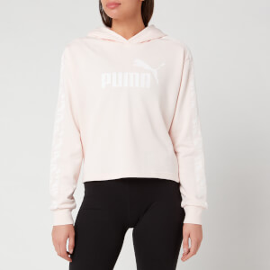 Puma Women's Ampliified Cropped Hoody - Rosewater