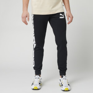Puma Men's T7 All Over Print Track Pants - Puma Black