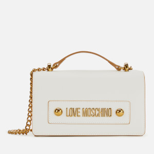 Love Moschino Women's Logo Shoulder Bag - White