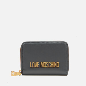 Love Moschino Women's Small Zip Around Purse - Black