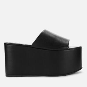 Simon Miller Women's Blackout Leather Platform Mules - Black
