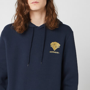Harry Potter Gryffindor Unisex Embroidered Hoodie - Navy