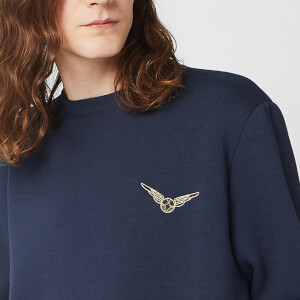 Harry Potter Golden Snitch Unisex Embroidered Sweatshirt - Navy
