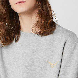 Sweat-shirt Unisexe Harry Potter Golden Snitch Brodé - Gris
