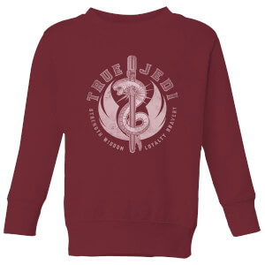 Star Wars The Rise Of Skywalker True Jedi Burgundy Kids' Sweatshirt - Burgundy