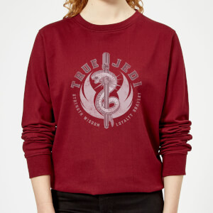 Star Wars The Rise Of Skywalker True Jedi Burgundy Women's Sweatshirt - Burgundy