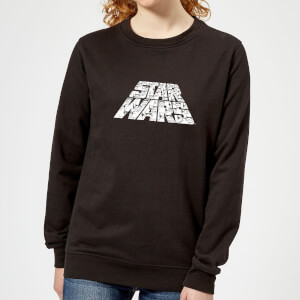 Star Wars The Rise Of Skywalker Star Wars IW Trooper Filled Logo Women's Sweatshirt - Black