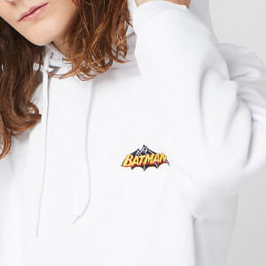 DC Batman Unisex Embroidered Hoodie - White