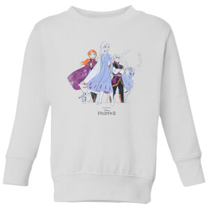 Frozen 2 Group Shot Kids' Sweatshirt - White