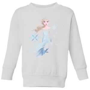 Frozen 2 Nokk Sihouette Kids' Sweatshirt - White